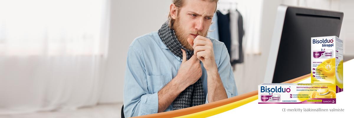 Bisolduo – kuivaan yskään ja kurkkukipuun