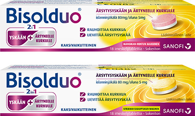 BISOLDUO®-imeskelytabletti